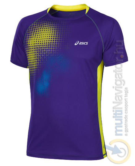 08db7cd73c Asics rövidujjú férfi futópóló grafikával