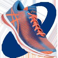 Asics Gel-Super J33 (női) futócipő (narancs-kék-lila) 2423dcd018